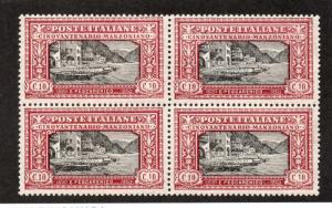 Italy - Sc# 165 MNH / Block of (4) -  Lot 1218189