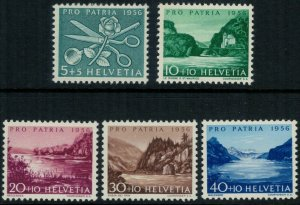 Switzerland B252-6* NH CV $10.00 complete set semipostal postage stamps