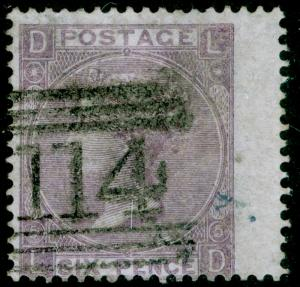 SG97, 6d lilac plate 5, FINE USED. Cat £120. LD.