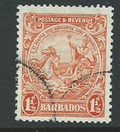 Barbados SG 231c VFU perf 13 ½ x 12