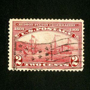 US Stamps # 372 XF Neat flag cancel