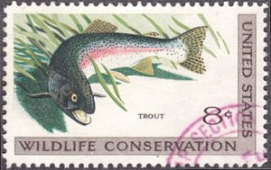 United States # 1427 used ~ 8¢ Trout