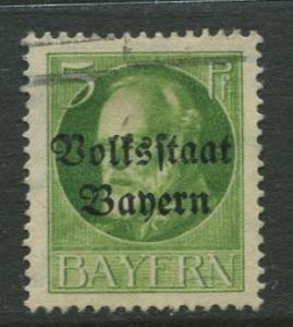 Bavaria -Scott 137 - King Ludwig III - Overprint - 1919 - FU - 5pf Stamp