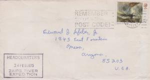 Great Britain 5 1/2p Turner 1975 Woking, Surrey Remember to use the Post Code...