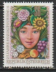 1978 Austria - Sc 1083 - MNH VF - 1 single - Child with Flowers and Fruit