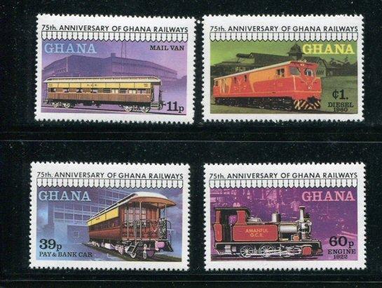 Ghana MNH 678-81 Trains