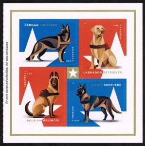 US #5408a Working Dogs Pane of 4; MNH (4.40) (5Stars)