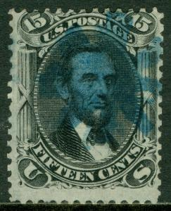 USA : 1867. Scott #98 Used, Fine. Very Fresh with nice Blue cancel. Catalog $345