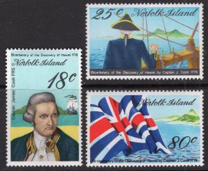Norfolk Island 222-224 MNH VF
