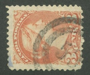 CANADA #37 USED SMALL QUEEN 2-RING NUMERAL CANCEL 59