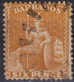 Barbados #55a  F-VF Used CV $15.00 (Z2453)