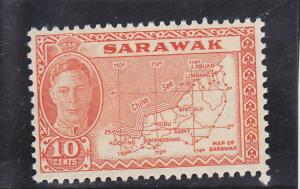 Sarawak  Scott#  195  MH