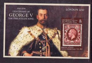 BIOT-Sc#406-unused NH sheet-Stamp on Stamp-King George V-2010-