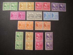 PREXIE LINE PAIRs COMPLETE, Scott 839 - 851, BEAUTIFUL MNH GROUP
