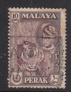 Malaya Perak 1957 Sc 132a 10c maroon Used