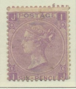 Great Britain Stamp Scott #45 Plate #6, Unused, No Gum, Toning - Free U.S. Sh...