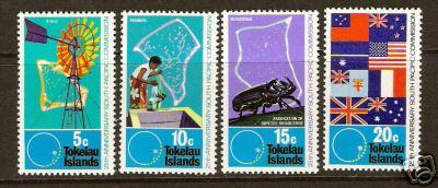 288C TOKELAU ISLANDS 33-6  MNH FLAGS/INSECT