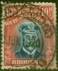 Rhodesia 1919 10d Indigo & Carmine SG269 Die III Fine Used