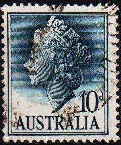 Australia. 1955 10d S.G.282c Fine Used