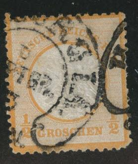 Germany Scott 16 used 1872 embossed Large shield nice cancel