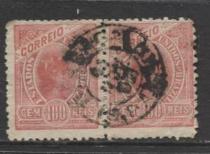 Brazil - Scott 160 - Definitive Issue -1900 - Used - Joined Pair of 100r Stamp