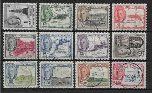 VIRGIN ISLANDS SG136/47 1952 DEFINITIVE SET FINE USED