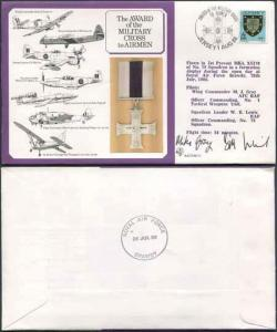 DM12a Award of the Military Cross to Airmen 11p Jersey Crew Signed (A)