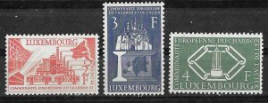 Luxembourg # 315-17 European Coal & Steel   (3)  Mint NH