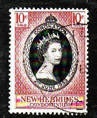 New Hebrides-Sc#77- id5-used QEII set-Coronation-1953-