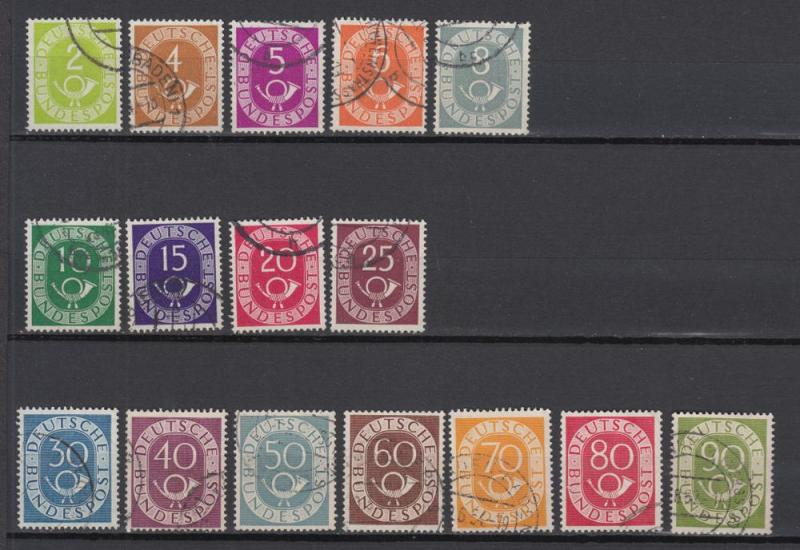 Germany - 1951 Post Horn complete set (261)