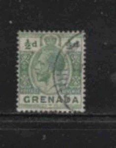 GRENADA #79  1913  1/2p  KING GEORGE V       F-VF  USED  a