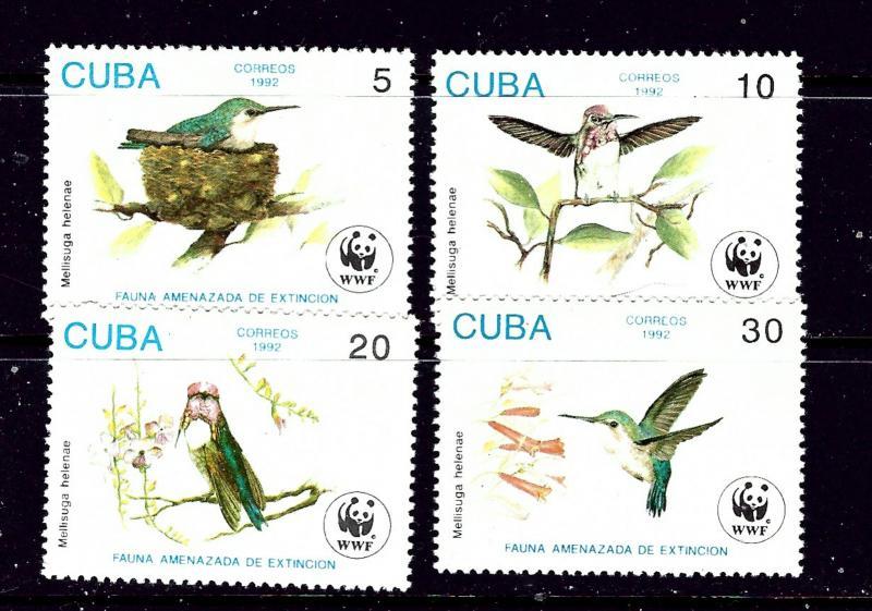 Cuba 3428-31 MNH 1992 Birds