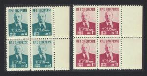 Albania Vladimir Lenin 90th Birth Anniversary 2v Blocks of 4 SG#643-644