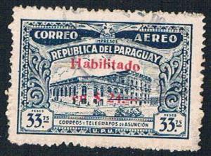 Paraguay C107 Used Telegraph building 1937 (BP3113)