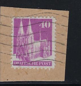Germany AM Post Scott # 651, used, opp