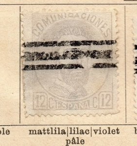 Spain 1872-73 Early Issue Fine Used 12c. NW-16572