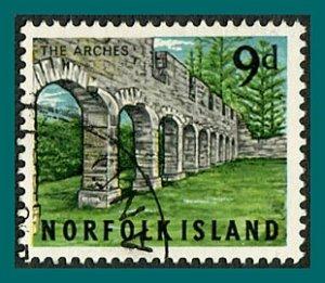 Norfolk Island 1964 Views, 9d used  #52,SG53