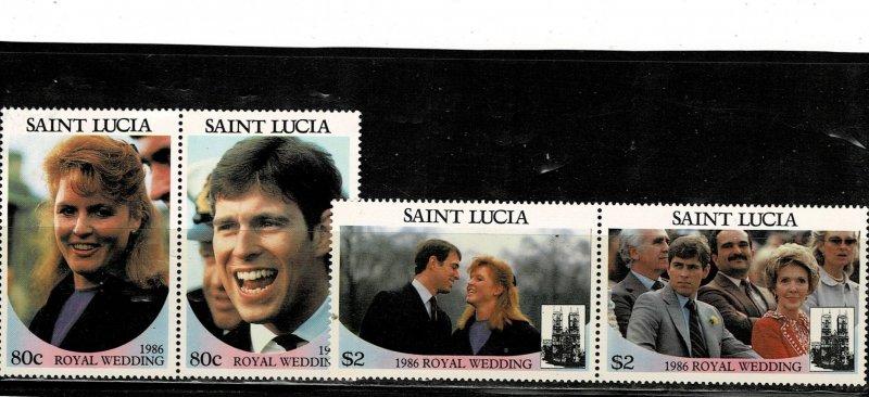 St Lucia 1986 Royal Wedding MNH