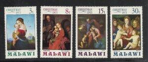 Malawi #178-81 comp mnh cv $1.40 Christmas