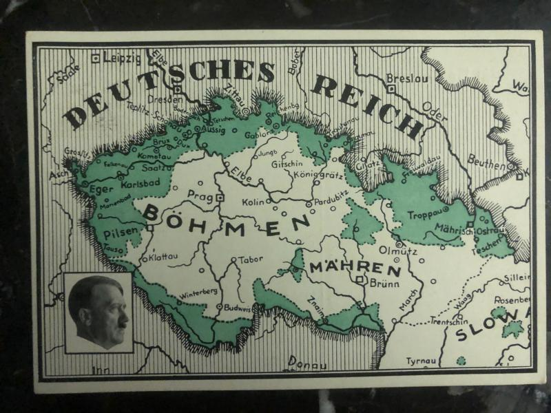 1938 Breitenbach Sudetenland Germany  Postcard Cover New Territories b