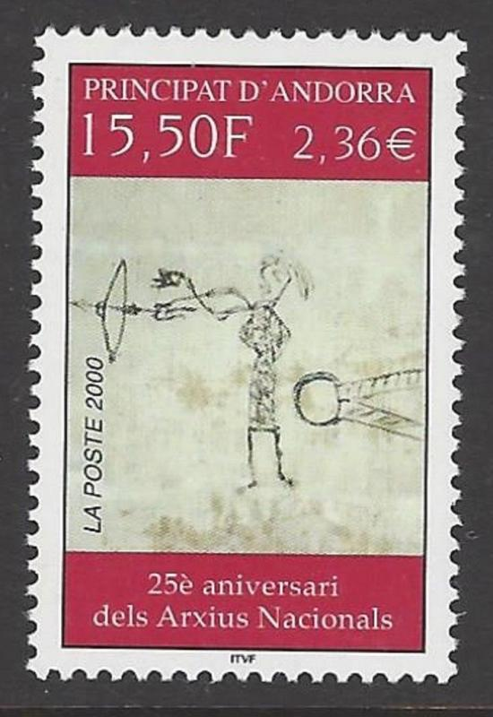 Andorra French 2000 National Archives VF MNH (530)