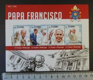 St Thomas 2015 pope francis religion m/sheet mnh