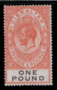 Gibraltar 1921 92 H CV$190