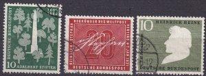 Germany #735, 738, 740 F-VF Used CV $6.60  (Z5400)