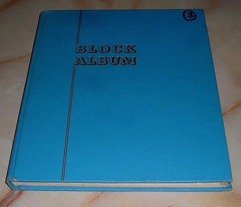 SET OF 9, USED, LIGHTHOUSE HINGE-LESS BLOCK ALBUMS, NICE! LQQK!