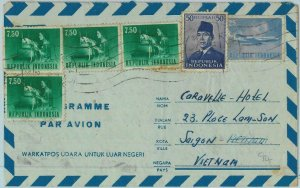 91201  - INDONESIA  - POSTAL HISTORY -  AIRMAIL COVER  or VIETNAM   1966