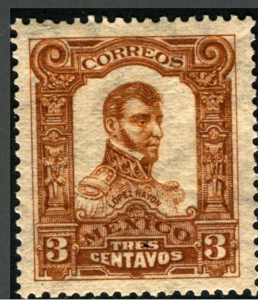 MEXICO 312, 3cts INDEPENDENCE CENTENNIAL 1910 COMMEM MINT, NH
