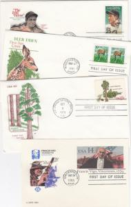 60+ First Day Covers 1970s & 1980s House of Farnam Cachets