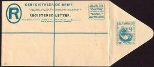 SOUTH WEST AFRICA South Africa 6d registered envelope unused...............31723