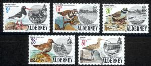 Alderney Sc# 13-17 MNH 1984 Definitives